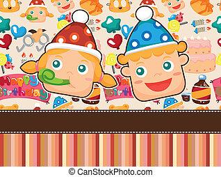 cartoon birthday card