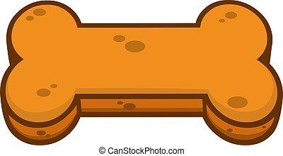 Cartoon Biscuit Dog Bone