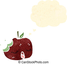 cartoon bitten apple