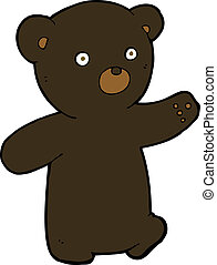 cartoon black bear cub