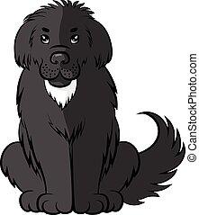 Cartoon black big furry dog