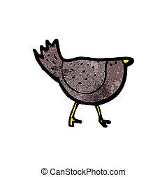 cartoon black bird