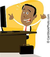 Cartoon Black Businessman