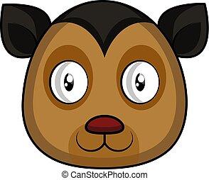 Cartoon black kitten vector illustartion on white background
