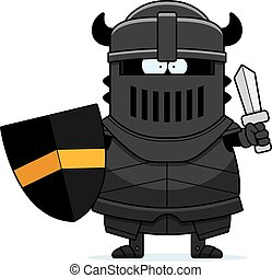 Cartoon Black Knight Sword