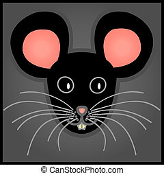 Cartoon black mouse
