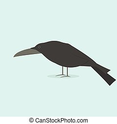 cartoon black raven