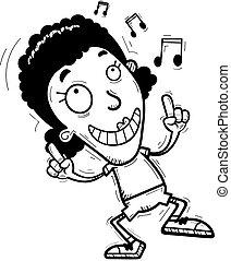 Cartoon Black Woman Dancing