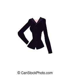 Cartoon blazer with lapel collar and buttons - Black slim...