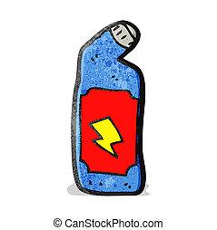 cartoon bleach bottle