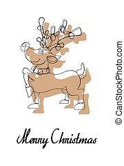 Blitzen Christmas Reindeer