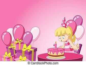 girl having fun at birthday party