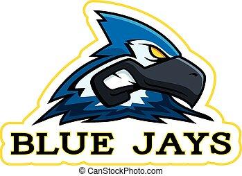 Cartoon Blue Jay Mascot - A cartoon illustration of a blue...