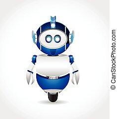 Cartoon Blue Robot character