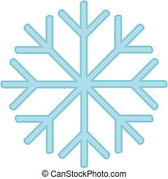 Cartoon blue snowflake icon. Vector illustration.