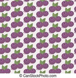 Cartoon blueberries pattern