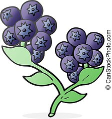 cartoon blueberries
