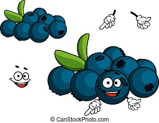 Cartoon Blueberry character - Cartoon Blueberry fruit...