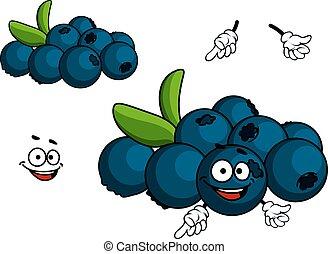 Cartoon Blueberry character - Cartoon Blueberry fruit...