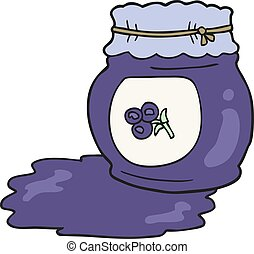 cartoon blueberry jam