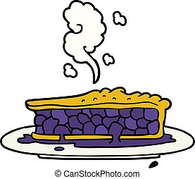 cartoon blueberry pie