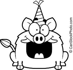Cartoon Boar Birthday Party