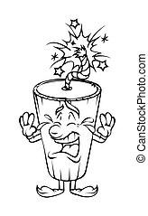 Cartoon Bomb Crying Vector Clipart - Cartoon Bomb Crying...