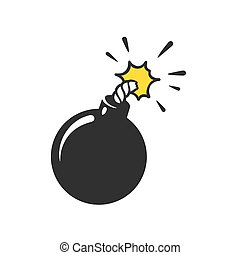 Cartoon bomb illustration