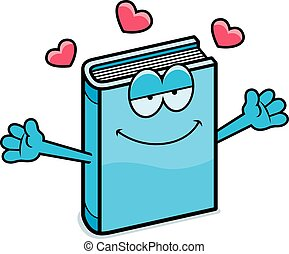 Cartoon Book Hug
