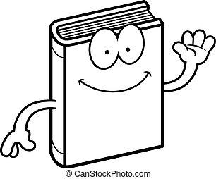 Cartoon Book Waving