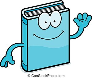 Cartoon Book Waving