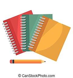 cartoon books pencil school design