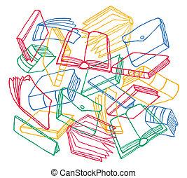 Cartoon books texture as background