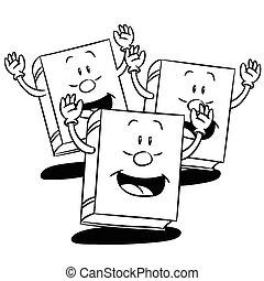 Cartoon Books-Vector Illustration