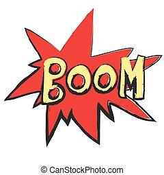 cartoon Boom - Comic Speech Bubble