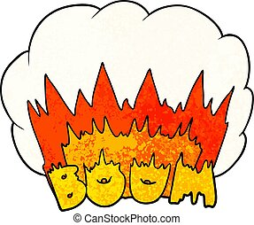 cartoon boom explosion