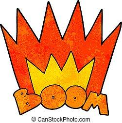 cartoon boom sign