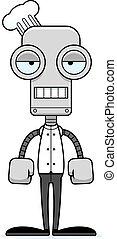 Cartoon Bored Chef Robot