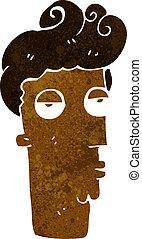 cartoon bored man's face