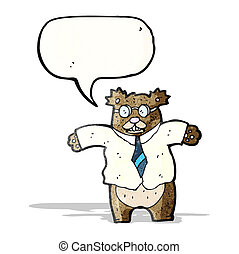 cartoon boss bear