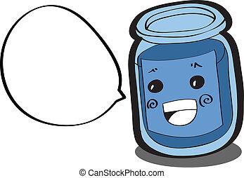 cartoon bottle character
