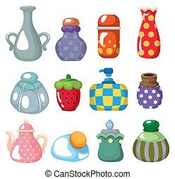 cartoon bottle icon