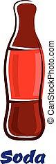Cartoon bottle of soda drink
