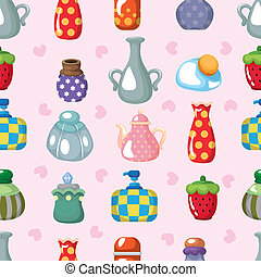 cartoon bottle seamless pattern