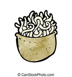cartoon bowl of noodles