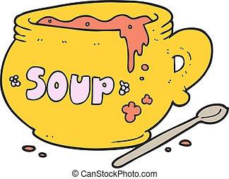 cartoon bowl of soup