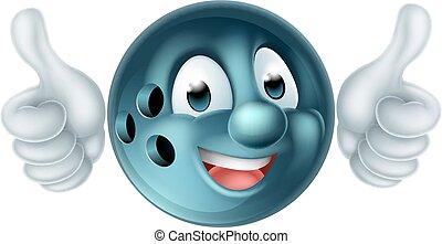 Cartoon Bowling Ball Character