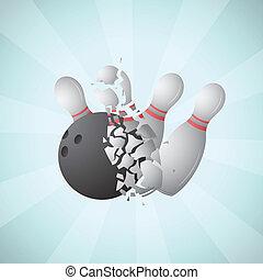 Cartoon bowling - Vector illustration of cartoon bowling ...