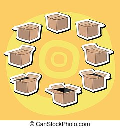 Cartoon box, sects
