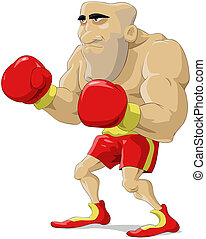 Cartoon boxer - Cartoon the boxer in red gloves